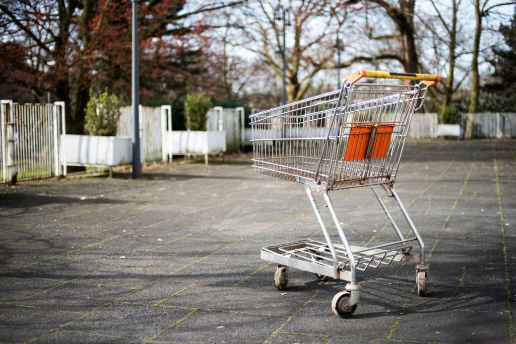 The tragedy of the abandoned shopping trolley...